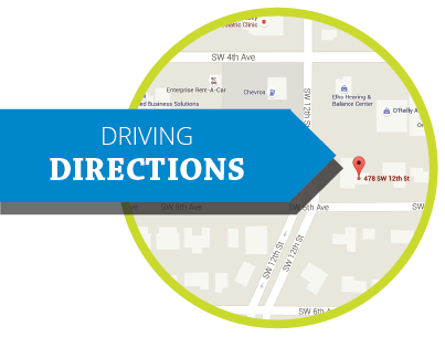 button for MOBI driving directions